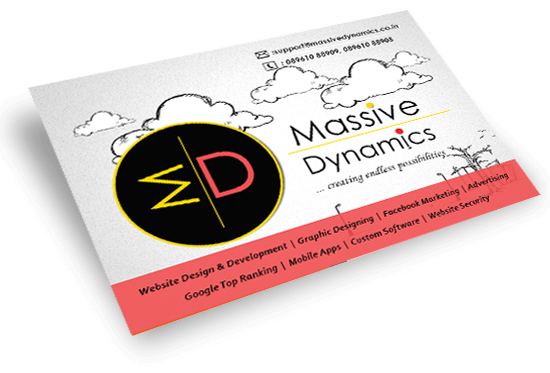 Massive dynamics successful business card designsnt just settle for an echo make your business card a voice being the best visiting card design agency in kolkata colourmoves